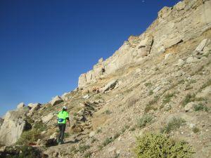 Climb up the mesa