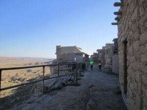 Running through the old pueblo of Walpi